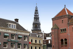 AMSTERDAM; THE NETHERLANDS - AUGUST 16; 2015: View of Oude Kerk Stock Photography