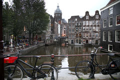AMSTERDAM, THE NETHERLANDS - AUGUST 18, 2015: View on Saint Nicholas Stock Photo