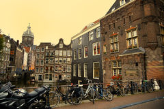 AMSTERDAM, THE NETHERLANDS - AUGUST 18, 2015: View on Saint Nicholas Royalty Free Stock Photo