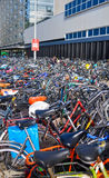 Amsterdam, the Netherlands - 18.09.2015: Bicycle parking in the Stock Images