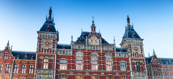 Amsterdam, The Netherlands. Building at Amsterdam Centraal.  Royalty Free Stock Photography