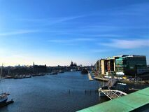 Amsterdam, Netherlands, city skyline panorama