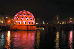 AMSTERDAM,THE NETHERLANDS-DECEMBER 26: Festival of Light, decemb Stock Photography