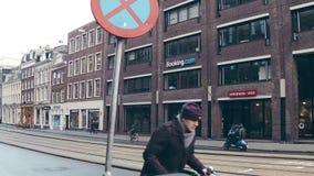 AMSTERDAM, NETHERLANDS - DECEMBER 26, 2017. Booking.com office entrance. AMSTERDAM, NETHERLANDS - DECEMBER 26 2017 Bookingcom office stock footage