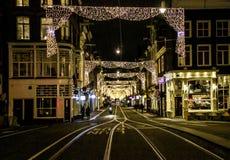 Amsterdam, Netherlands - December 24, 2017 - Empty streets Stock Photos