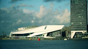 AMSTERDAM, NETHERLANDS - DECEMBER 26, 2017. EYE Film Institute building. AMSTERDAM, NETHERLANDS - DECEMBER 26 2017 EYE Film Institute stock video footage