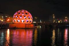 AMSTERDAM NETHERLANDS-DECEMBER 26: Festiwal światło, decemb Fotografia Stock