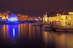 AMSTERDAM NETHERLANDS-DECEMBER 26: Festiwal światło, decemb Obrazy Stock