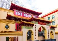 Amsterdam, Netherlands - December 14, 2017: He Hua Temple main entrance stock photo