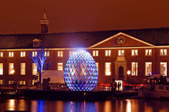 AMSTERDAM, NETHERLANDS - DECEMBER 07 2012: Illuminated Hermitage Royalty Free Stock Images