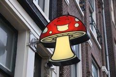 Amsterdam mushroom store royalty free stock photo