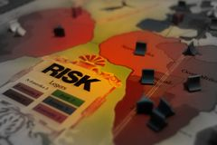 Risk board game selective focus closeup. Stock Image