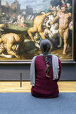 AMSTERDAM, NETHERLANDS - FEBRUARY 08: Visitor at Rijksmuseum on Royalty Free Stock Photography
