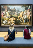AMSTERDAM, NETHERLANDS - FEBRUARY 08: Visitor at Rijksmuseum on Stock Photos