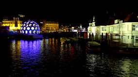 AMSTERDAM,THE NETHERLANDS Festival of Light stock video footage