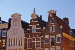 Amsterdam, Netherlands - Gables in the evening Stock Photography