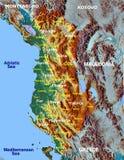 Albania Europe hi res aerial view map Stock Photos