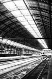 Amsterdam netherlands  inside the station centraal the main rail Royalty Free Stock Photography