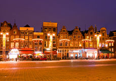 AMSTERDAM, NETHERLANDS - January 3, 2016: Amsterdam houses at ch Royalty Free Stock Images