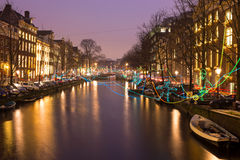 AMSTERDAM, THE NETHERLANDS - January 4, 2016: Light festival Royalty Free Stock Image