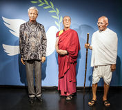 AMSTERDAM, NETHERLANDS - JANUARY 21: Wax famous persons of Madame Tussaud museum on JANUARY 21, 2015 in Amsterdam, Netherlands. It Royalty Free Stock Photos