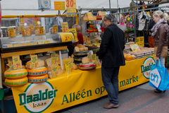 Amsterdam, Netherlands - July 30, 2011: Homemade cheese market s royalty free stock photography