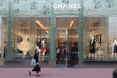 Chanel fashion brand royalty free stock photography