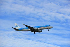 Amsterdam, the Netherlands, July, 15th 2016: PH-EZR KLM Embraer Stock Photos