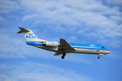 Amsterdam, the Netherlands, July, 15th 2016: PH-KZC KLM Fokker F70 Stock Images