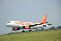 Amsterdam, The Netherlands - June 12 2015: G-EZAY easyJet Airbus. A319-111 takes off at Amsterdam Airport Schiphol Polderbaan runway. EasyJet is a British low Stock Images