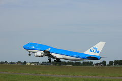 Amsterdam, the Netherlands  -  June 2nd, 2017: PH-BFW KLM  747-400M Stock Images