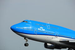Amsterdam, the Netherlands  -  June 2nd, 2017: PH-BFW KLM  747-400M Royalty Free Stock Photo