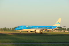Amsterdam, the Netherlands  -  June 2nd, 2017: PH-EXE KLM Cityhopper Embraer Stock Photo
