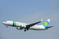 Amsterdam, The Netherlands - June 12 2015: PH-HSI Transavia Boei Royalty Free Stock Photo