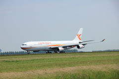 Amsterdam, The Netherlands - June 12 2015: PZ-TCP Surinam Airway stock images