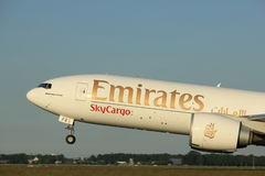 Amsterdam, the Netherlands  - June 1st, 2017: A6-EFD Emirates Boeing 777F Stock Photo
