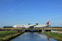 Amsterdam, the Netherlands - June 9th 2016: A7-BAU Qatar Airways Royalty Free Stock Photo