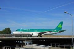 Amsterdam, the Netherlands - June 9th 2016: EI-CVC Aer Lingus Ai. Rbus A320 , taxiing to Polderbaan runway Schiphol, destination Dublin, Ireland stock photography