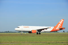 Amsterdam, the Netherlands - June 9th 2016: G-EZUA easyJet Airbus A320-214 stock image