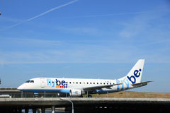 Amsterdam, the Netherlands - June 9th 2016: G-FBJC Flybe Embraer Stock Images