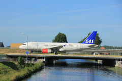 Amsterdam, the Netherlands - June 9th 2016: OY-KAO SAS Scandinav Stock Photography