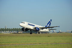 Amsterdam the Netherlands - June 9th, 2016:  YR-ASA TAROM Airbus Royalty Free Stock Photo