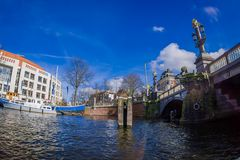 AMSTERDAM, NETHERLANDS, MARCH, 10 2018: Outdoor view of Dutch National Opera Ballet. The Stopera is a building complex Royalty Free Stock Photography