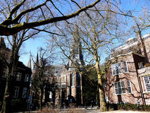 AMSTERDAM, THE NETHERLANDS - MARCH 13, 2016: Vondel church scene Royalty Free Stock Images