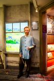 Wax figure of Vincent Willem van Gogh, dutch post-impressionist painter in Madame Tussauds Wax museum in Amsterdam. Amsterdam, Netherlands - March, 2017: Wax stock photography
