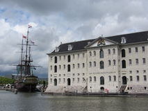AMSTERDAM, NETHERLANDS - 2015: Maritime Museum in Stock Photo