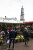 Amsterdam. NETHERLANDS - MAY, 13, 2017: The Bloemenmarkt is the world`s only floating flower market. Founded in 1862, it is sited in , on Singel between Stock Photo