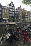 Amsterdam. NETHERLANDS - MAY 15, 2017: The city on a cloudy spring day Stock Images