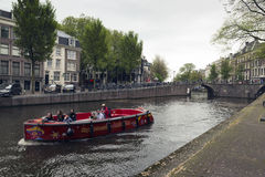 Amsterdam. NETHERLANDS - MAY 15, 2017: The city on a cloudy spring day Stock Photography
