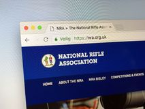 Homepage of National Rifle Association of the United Kingdom. Amsterdam, Netherlands - May 13, 2018: Homepage of National Rifle Association of the United Kingdom Royalty Free Stock Photos